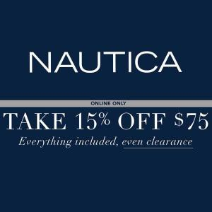 Extra 15% Off with Purchase of $75 or More