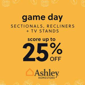 Up to 25% Off Game Day Sectionals, Recliner & TV Stands