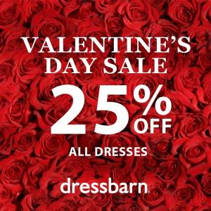 Valentine's Day Sale: 25% Off All Dresses