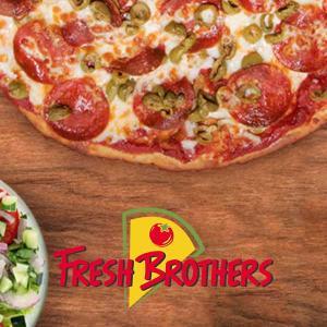 Medium 2 Topping Cauliflower Pizza & Salad Only $25