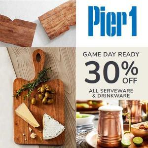 30% Off Serveware and Drinkware