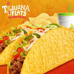 Two Tacos, Chips & Drinks $5.99