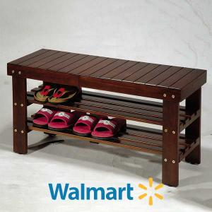 53% Off Roundhill Pina Solid Wood Storage Shoe Bench