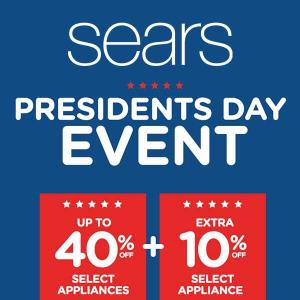 Up to 40% Off Appliances + Extra 10% Off Select Appliances