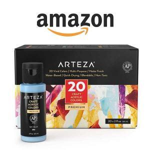 26% Off Set of 20 Arteza Craft Acrylic Paints