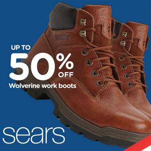 Up to 50% Off Wolverine Men's Work Boots