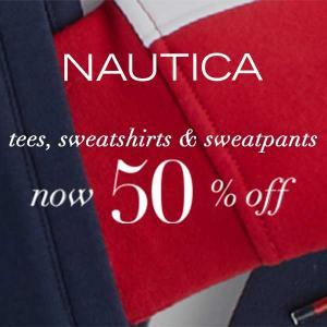 50% Off Tees, Sweatshirts and Sweatpants