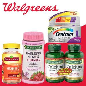 Buy 1, Get 1 Free on Thousands of Vitamins & Supplements