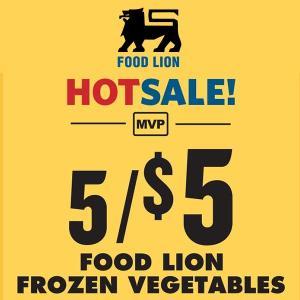 5 for $5 Food Lion Vegetables