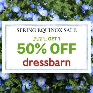 Spring Equinox Sale: Buy 1, Get 1 50% Off