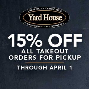 15% Off All Takeout Orders for Pickup