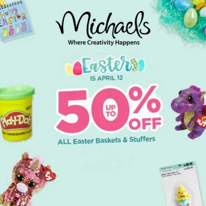 50% Off All Easter Baskets and Stuffers
