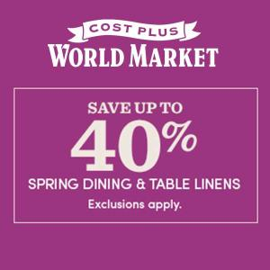 Up to 40% Spring Entertaining