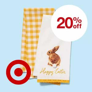20% Off Easter Entertaining and More