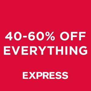 40% to 60% Off Everything Online