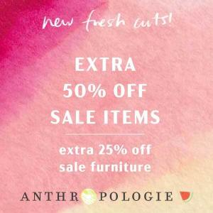 Extra 50% Off Sale Items + Extra 25% Off Sale Furniture