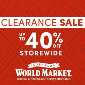Clearance Sale: Up to 40% Off Sitewide