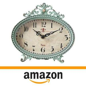 23% Off Creative Co-op Green Antiqued Pewter Clock