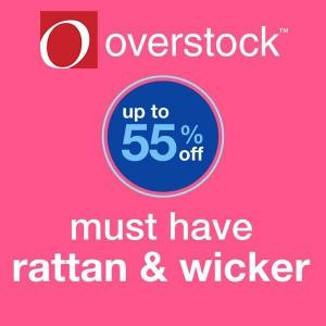 Up to 55% off Rattan & Wicker Home Goods