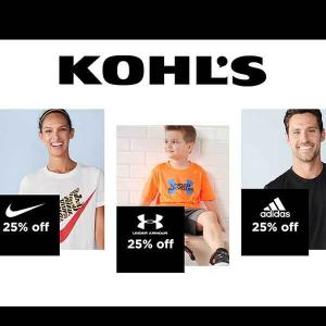 25% Off Adidas, Nike & Under Armour