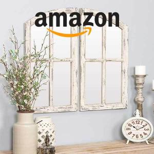 59% Off Distressed  Wooden  Wall Mirror