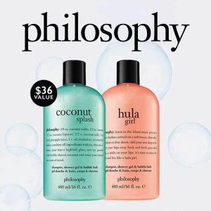 2 Free Full-Size Shower Gels w/ Any $60 Purchase