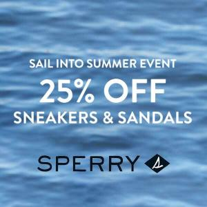 25% Off Sneakers and Sandals