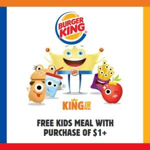 Free Kids Meal with Purchase of $1+