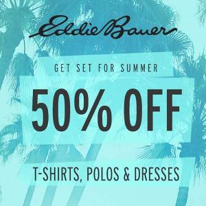 50% Off T-Shirts, Polos & Dresses