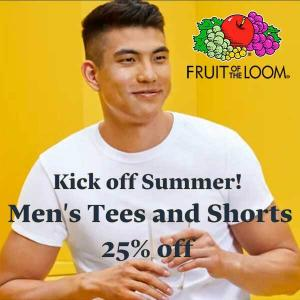 25% Off Men's Tees and Shorts