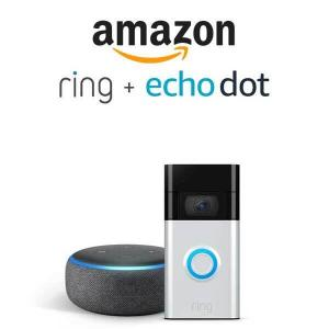$49.99 Off Ring Video Doorbell with Echo Dot