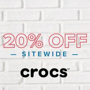 20% Off Crocs Sitewide
