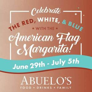 One American Flag Margarita for $8.95