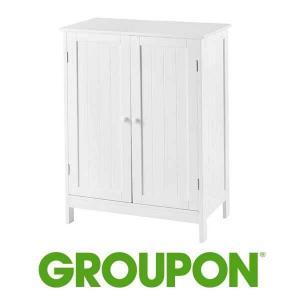 10% Off Double Door Bathroom Floor Storage Cabinet
