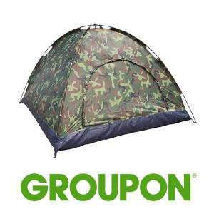 60% Off Camo Waterproof 4 Person Camping Tent