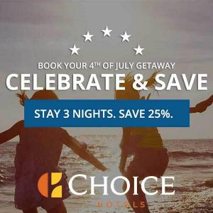 25% Off 3-Night Fourth of July Stays