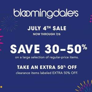 30% to 50% Off Large Select of Items in 4th of July Sale