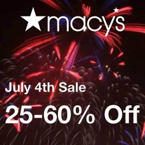 25% to 60% Off Summer Styles in 4th of July Sale