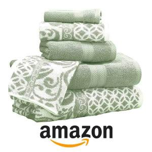 26% Off Trefoil Filigree Reversible Jacquard Towel Set