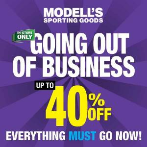 Going Out Of Business: 40% Off Everything