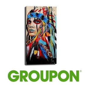 76% Off Abstract Native American Woman Canvas Oil Painting