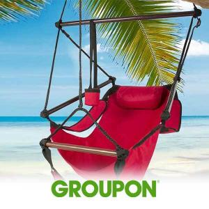 36% Off Patio Hanging Hammock with Pillows & Cup Holder