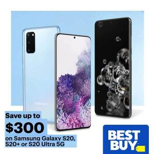 $300 Off Samsung Galaxy S20, S20+ or S20 Ultra 5G