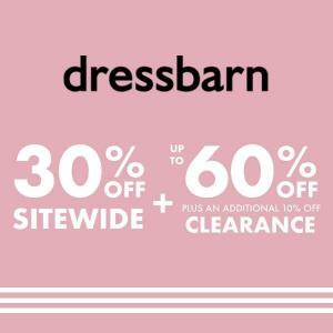 30% Off Sitewide + Up to 60% Off Clearance