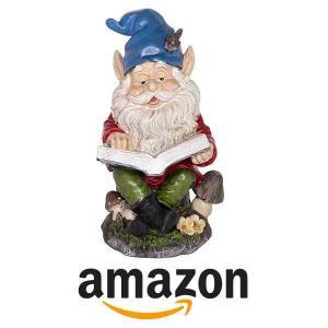 14% Off Alpine Gnome Reading a Book Statue