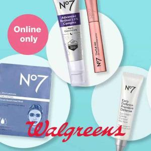 BOGO 50% Off No.7 Skin Care