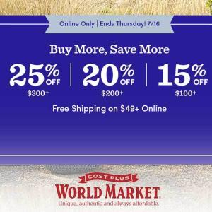 Buy More, Save More: Tiered Savings Up to 25% Off