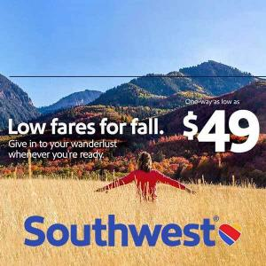 One Way Airfare for As Low As $49