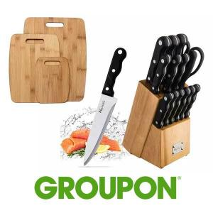 18% Off Knife Set With Cutting Boards
