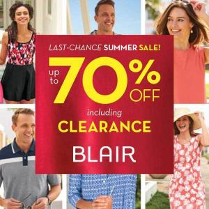 Last Chance Summer Sale: Up to 70% Off Including Clearance